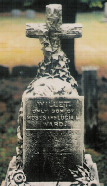 Gravestone with Rustic Celtic Cross