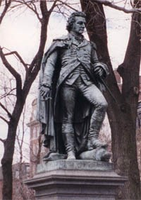 Statue of John Glover, soldier and statesman