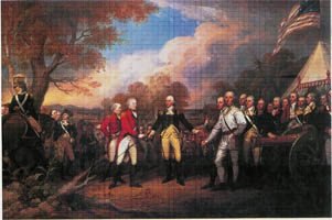 Painting of the surrender at Saratoga