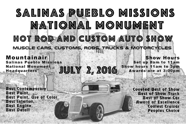 Event Details Salinas Pueblo Missions National Monument US - Pueblo car show