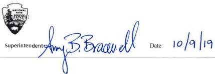 "Signature line reading ""Superintendent Amy Bracewell Date 10/9/19"""