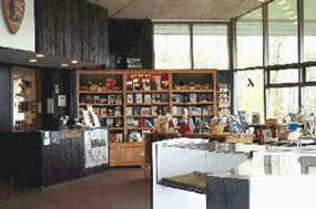 View of park book and gift shop, operated by Eastern National, our cooperating agency.
