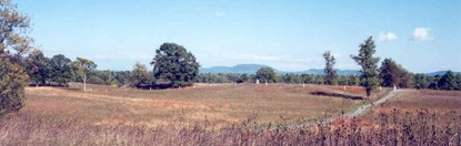 Panoramic view of the Freeman Farm, site of the fighting on September 19, 1777, in the Battles of Saratoga.