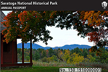 Thumbnail image of 2015 annual pass, showing Neilson House Porch in Autumn 2014