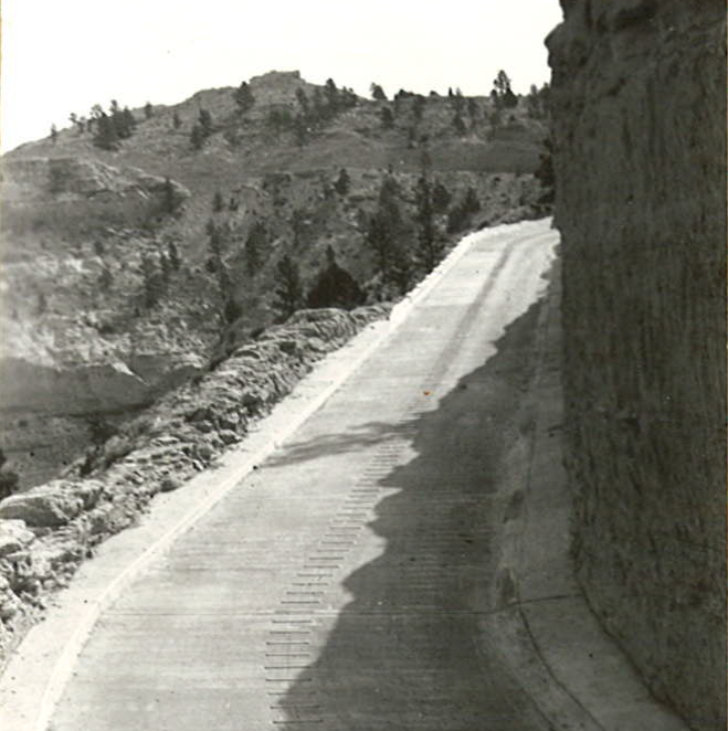 Paved road above 3rd tunnel, 9/1937