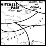Preview of map of the Oregon Trail near Scotts Bluff available for download