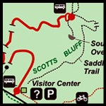 Preview of Scotts Bluff National Monument color park map available for download