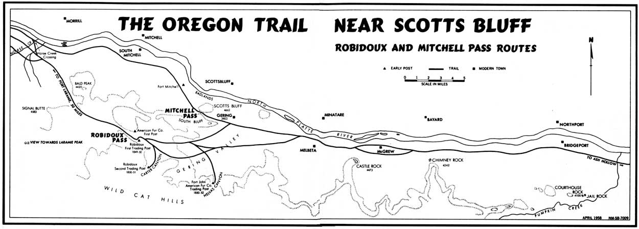 image regarding Oregon Trail Map Printable titled Maps - Scotts Bluff Countrywide Monument (U.S. Countrywide Park