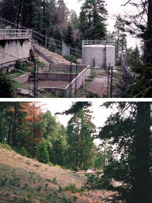 A restored sewage treatment facility (2004) which formerly served the Giant Forest area.