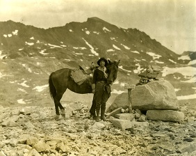 Susan Thew at Muir Pass, Sequoia and Kings National Park, CA.