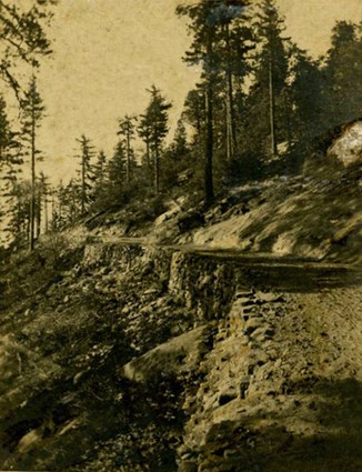 Section of road constructed under the command of Charles Young, 1903.