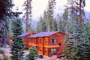 Lodging is nestled among pines and firs at Wuksachi Village.