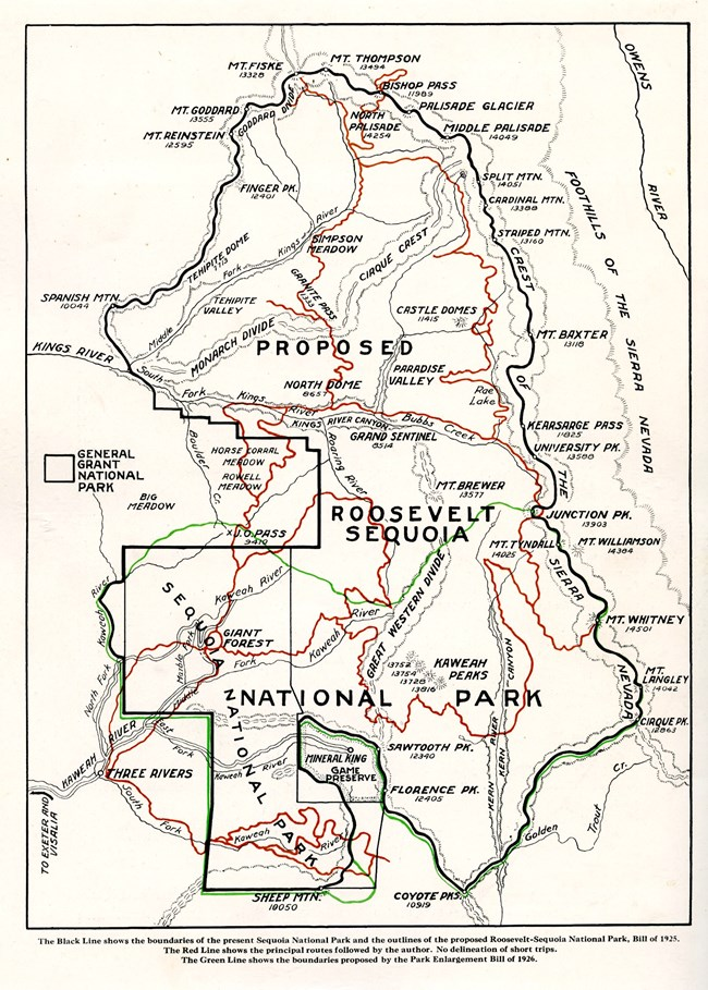 Map of expanded Sequoia National Park
