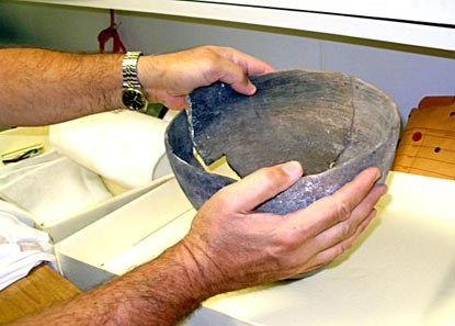 This Native American pot found recently in the parks is one of more than 500,000 objects housed in the park museums.