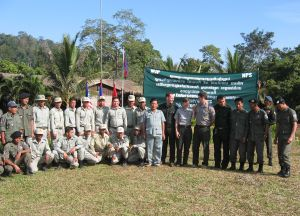 Park Rangers with Samlaut C-WET members