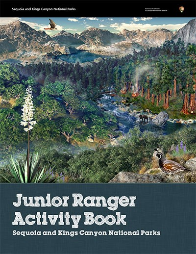 Cover of the junior ranger activity booklet
