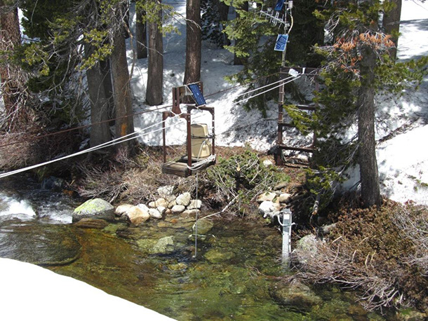 Hydrologic Benchmark Network station in the Upper Marble Fork Kaweah River, Sequoia National Park.