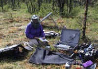Park scientists use special equipment to inventory sounds in a particular location
