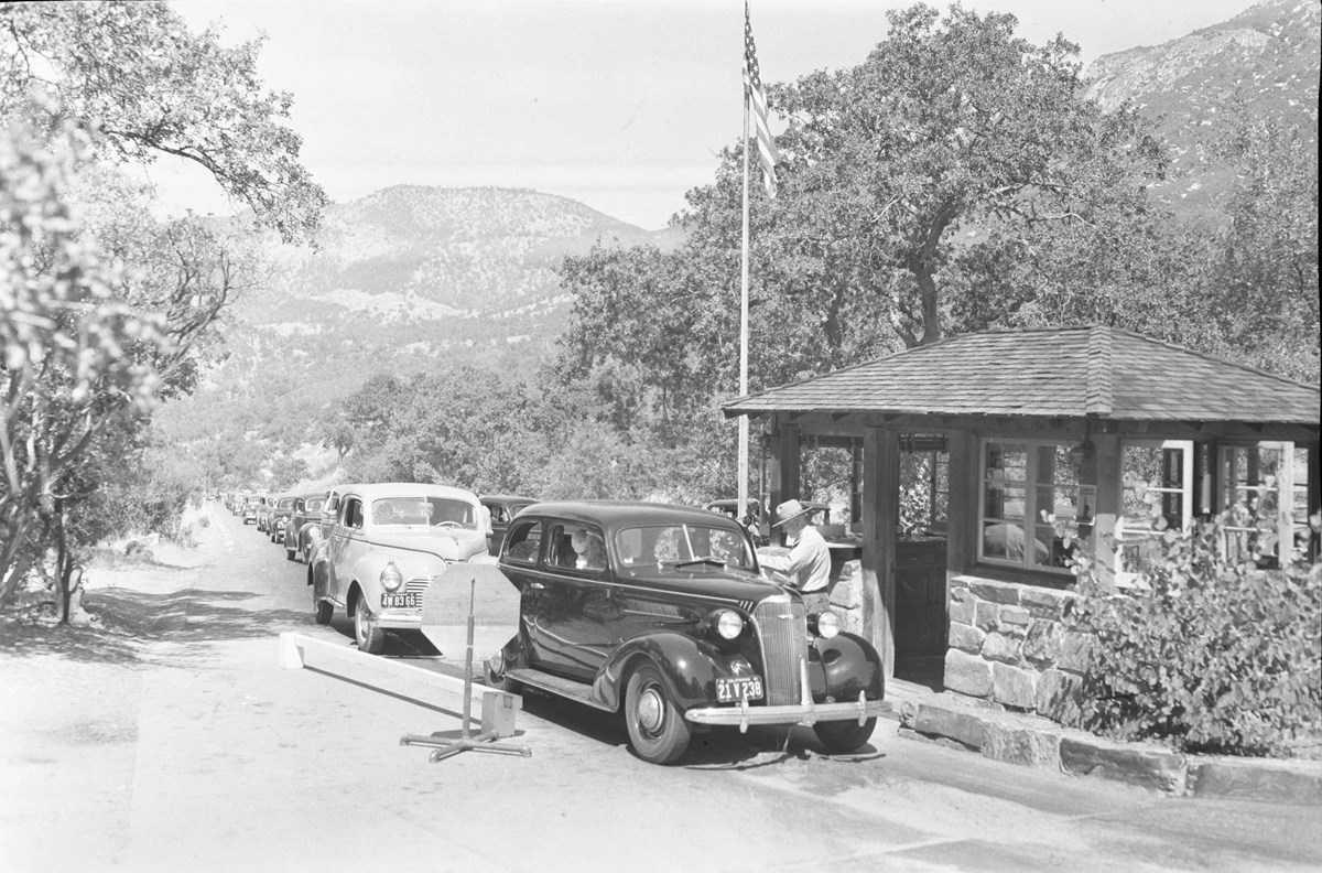 Historic Photo of the Ash Moutain Entrance Station - date unknown