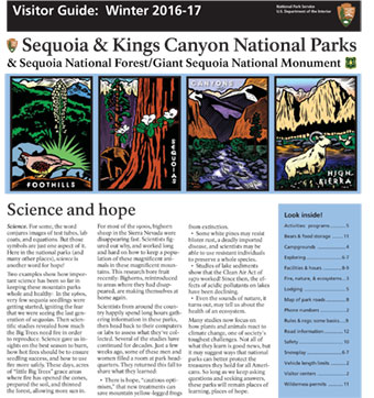 The front page of the park newspaper