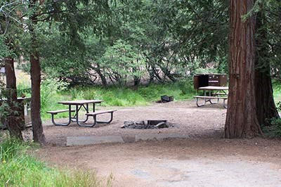A site at Azalea Campground