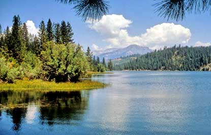 View across Hume Lake toward the northeast