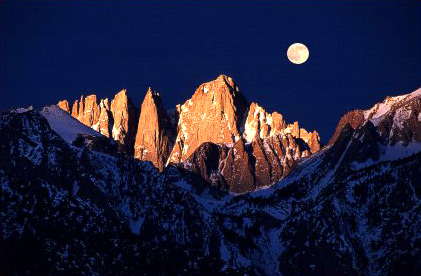 Moon over Mt. Whitney photo © by Jim Baumgardt, Image Counts, www.ImageCounts.com