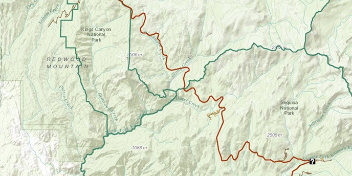 Park Atlas - Sequoia & Kings Canyon National Parks (U.S. ... on california national parks map, giant sequoia national park map, kings canyon np map,
