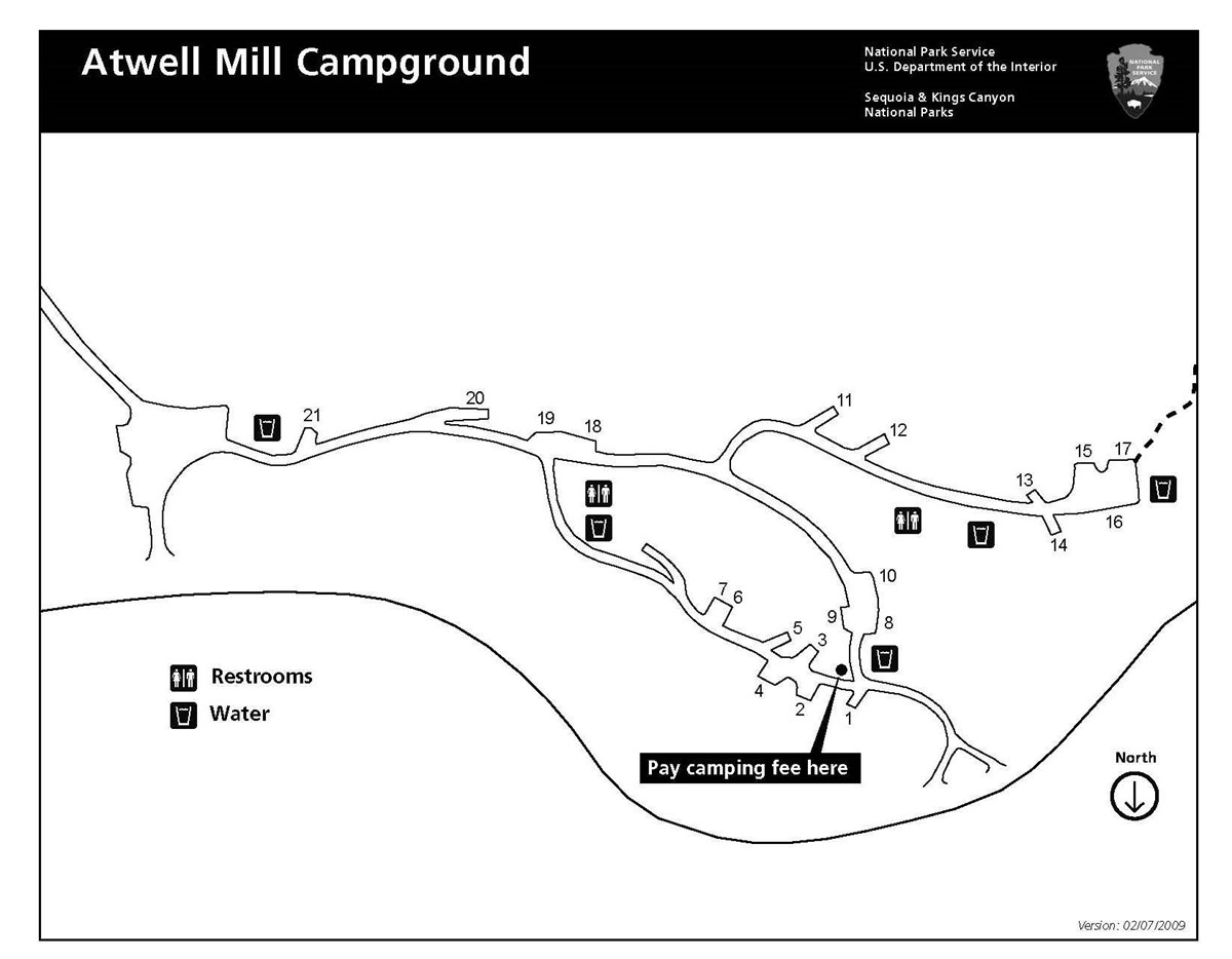Atwell Mill Campground map