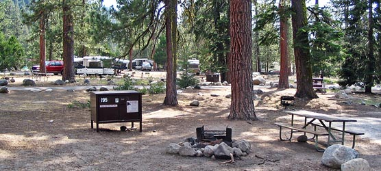 Lodgepole campground campsite