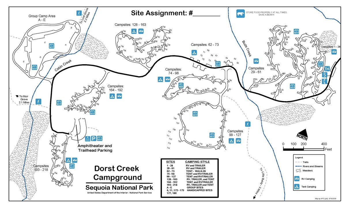 dorst creek campground map sequoia national park dorst creek campgrounddorst creek campground. dorst creek campground  sequoia  kings canyon national parks