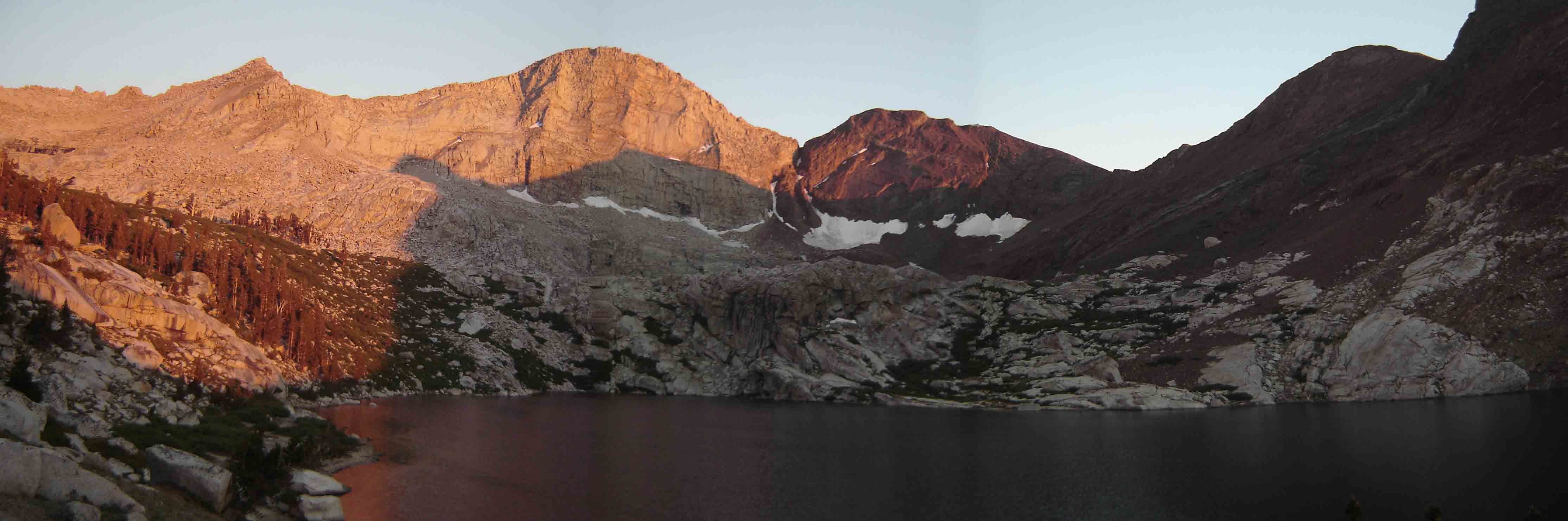 Franklin Lake at sunset