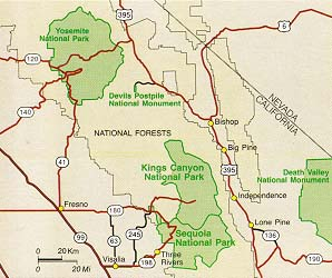 Maps Sequoia Kings Canyon National Parks U S