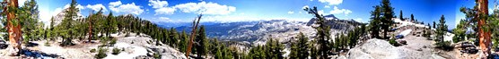 360 view of Silliman Pass on the border between Sequoia and Kings Canyon National Parks