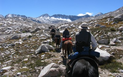 Riders in backcountry