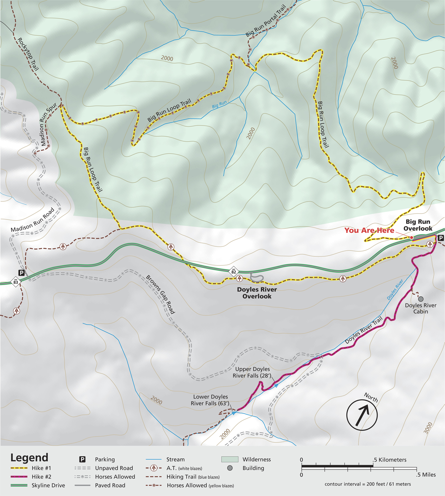 Big Run Trailhead Map