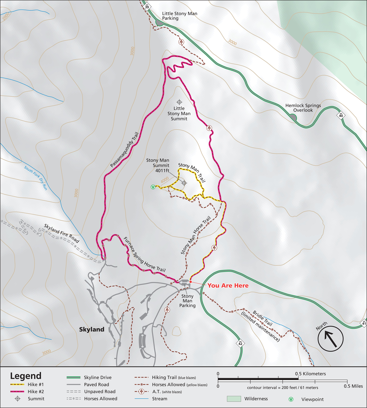 Stony Man Trailhead Map