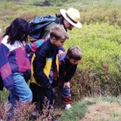 Students discover a unique habitat in Big Meadows during a ranger-guided education program.