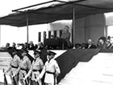 Roosevelt gave a stirring speech at the dedication of the park on July 3, 1936.