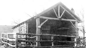 An historic photo of Sexton Shelter from 1932