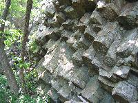 Columnar joints in greenstone.