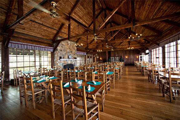 Historic Big Meadows Lodge provides a rustic dining experience for visitors to Shenandoah.