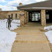 Photo of Byrd Visitor Center Entry