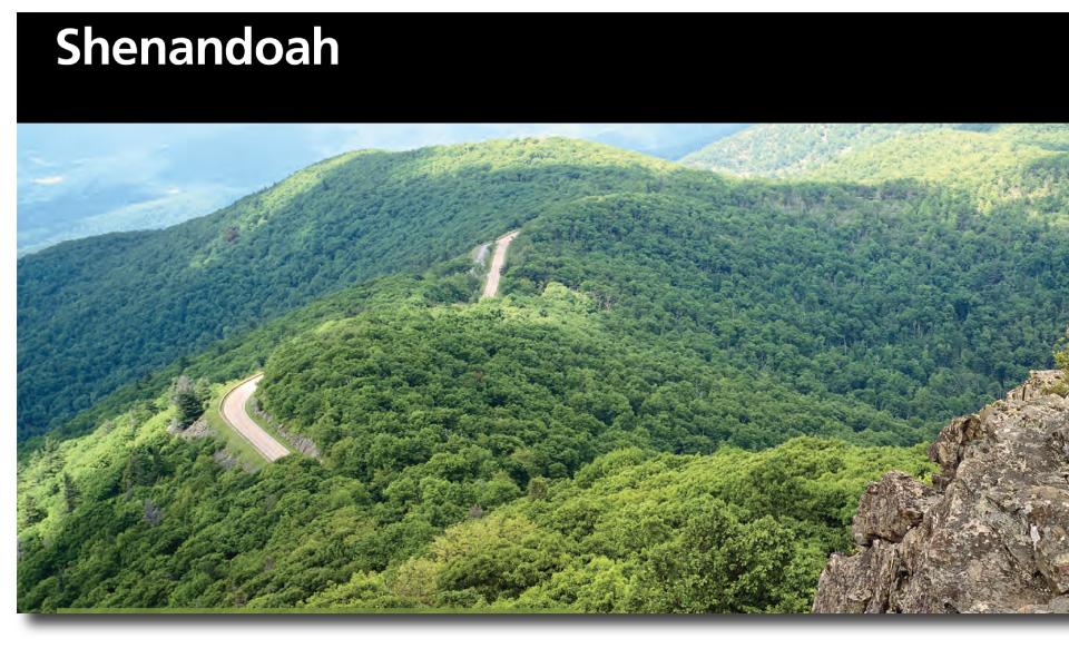 An Image Of The Shenandoah National Park Brochure - An image of the Shenandoah National Park brochure