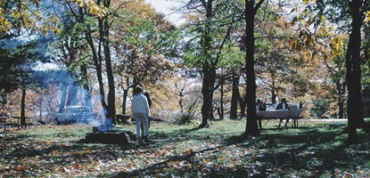 Shenandoah visitors enjoy a splendor of fall foilage at Pinnacles Picnic Grounds.