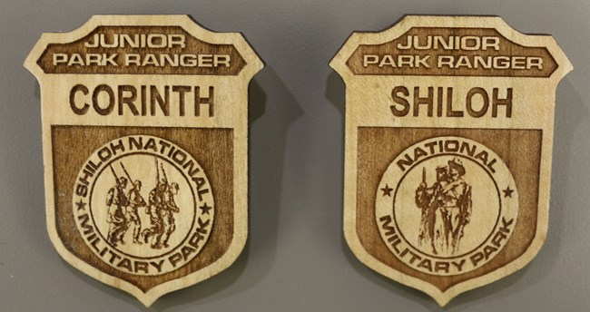 Corinth and Shiloh Junior Ranger Badges