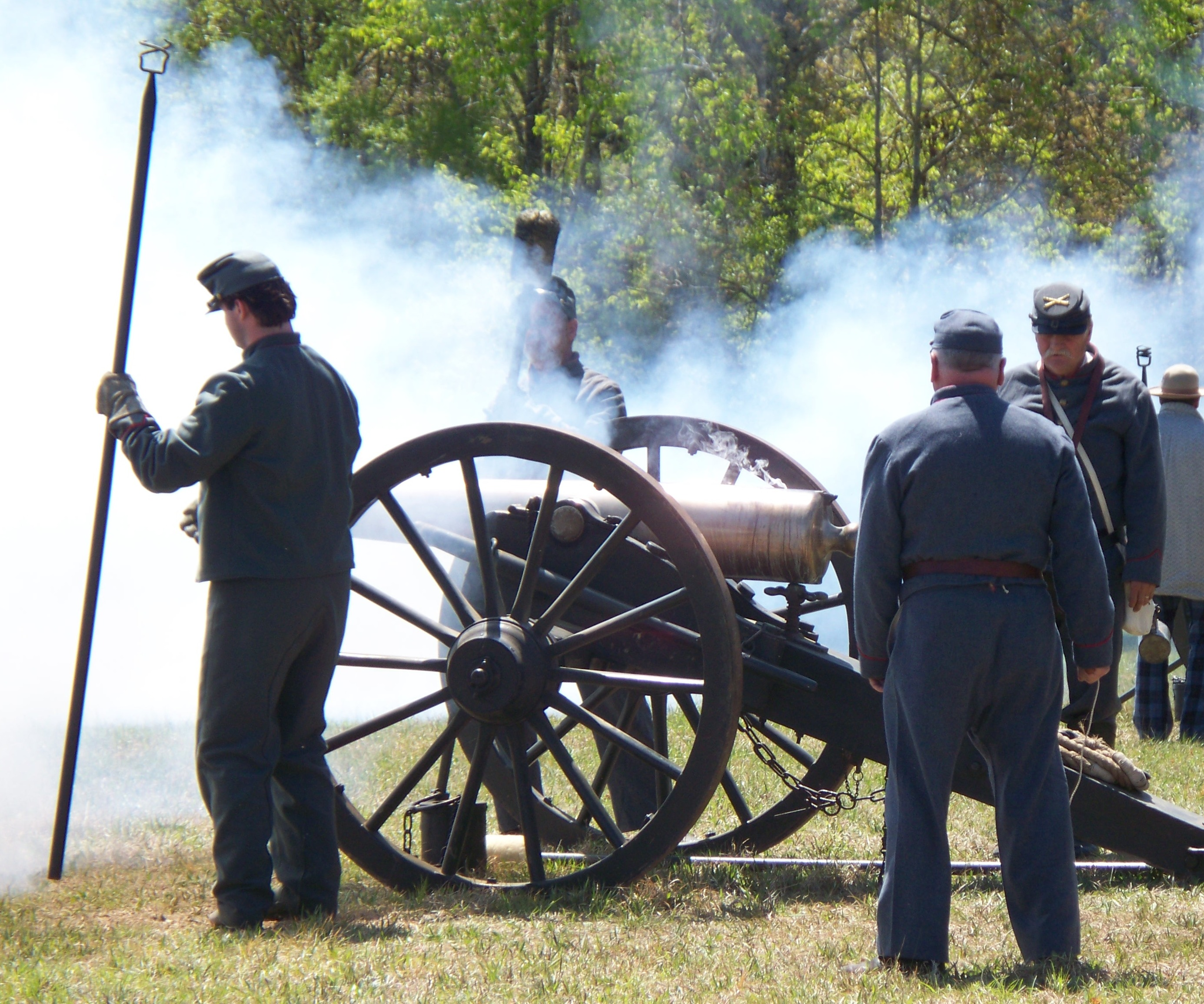 Confederate Artillery Fire - NPS Photo by Chris Mekow