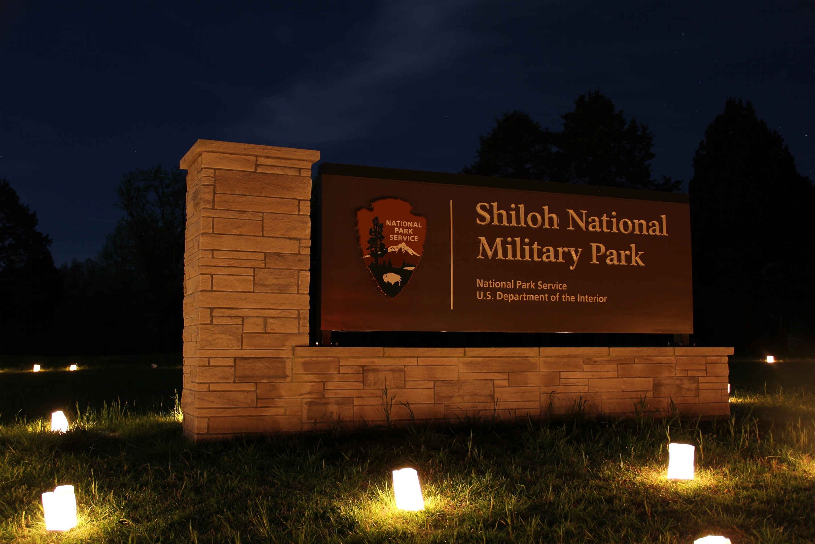 Shiloh's entrance sign