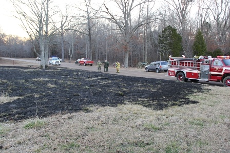 Burned area of Duncan Field