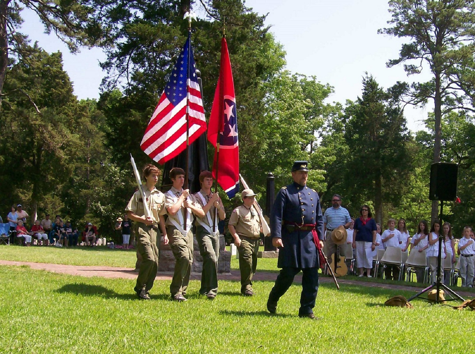 Memorial Day Ceremony in the Shiloh National Cemetery - Shiloh